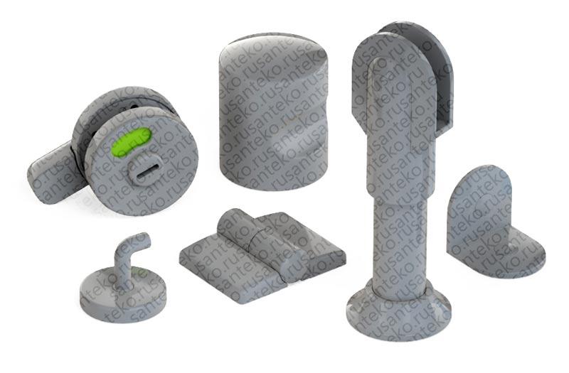 Сантехническая фурнитура для туалетных кабин - пластиковая