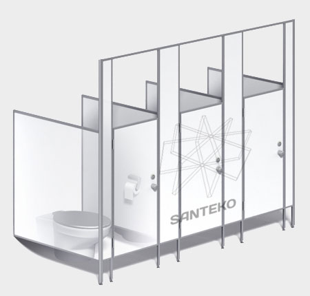 Перегородки детские, кабинки в детский туалет из ЛДСП 16-25 мм