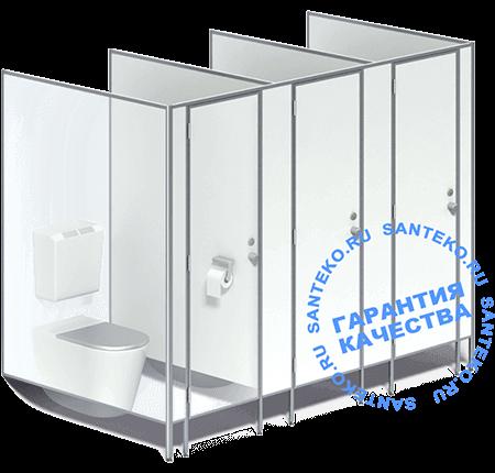 Перегородки туалетные для санузлов из ЛДСП